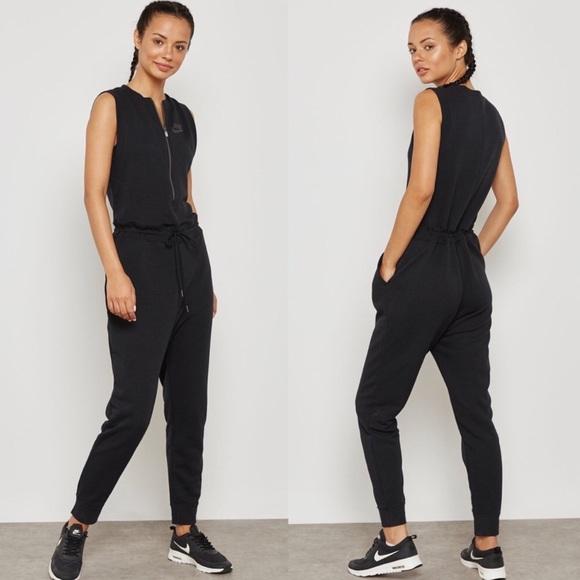 feb76de66 Nike Pants | Modern Black Womens Romper Jumpsuit 1 Piece | Poshmark